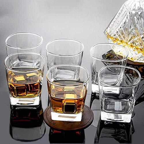 Parfait 6Pcs Verre Cristal Verre à vin, Set de bière en verre transparent à un usage domestique, épaissie résistant à la chaleur et imperdable, cadeau personnalisé, avec une exquise Emballage Boîte (T