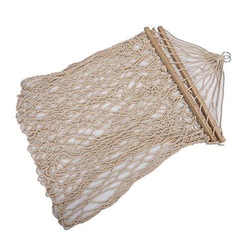 LIANYG Algodón Blanco Columpio de Cuerda Colgando Hamaca en el Porche o en una Playa hamacas Colgantes 228 (Color : White)