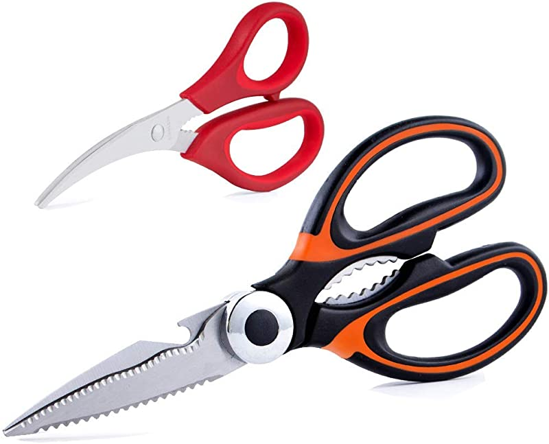 Kitchen Scissors Heavy Duty Cooking Shears For Cutting Poultry Food Meat Chicken Seafood Scissors As A Gift For Christmas Dishwasher Safe By Huameilong