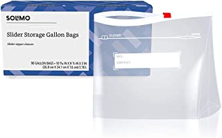 Amazon Brand - Solimo Slider Gallon Food Storage Bags, 90 Count