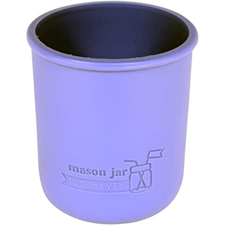 Wide Mouth Pint 16oz Silicone Sleeves/Jackets for Protecting Ball, Kerr, Canning Jars by Mason Jar Lifestyle (Ultra Violet, 2 Pack)