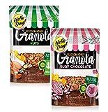 Granola Hello Day: 1 x nueces y granos, 1 x chocolate rosa y mijo sin conservantes y sin aceite de palma - Total 550 gramos