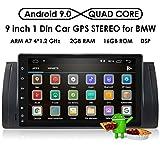 hizpo Android 9.0 Autoradio-Player mit Bluetooth GPS-Navigation 9 Zoll 1024X600 HD Touchscreen Lenkradsteuerung WiFi 4G USB SD CAM-In passend für BMW 5er E39 BMW X5 E53 M5 BMW 7er