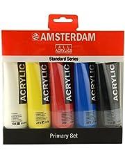 مجموعة رويال تالانس أمستردام القياسية من ألوان الأكريليك، 120 مل، مجموعة من 5 ألوان أساسية (17790905) متعددة الألوان