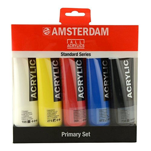 Amsterdam Acrylfarbe Standard Series Primary Set 5 x 120 ml