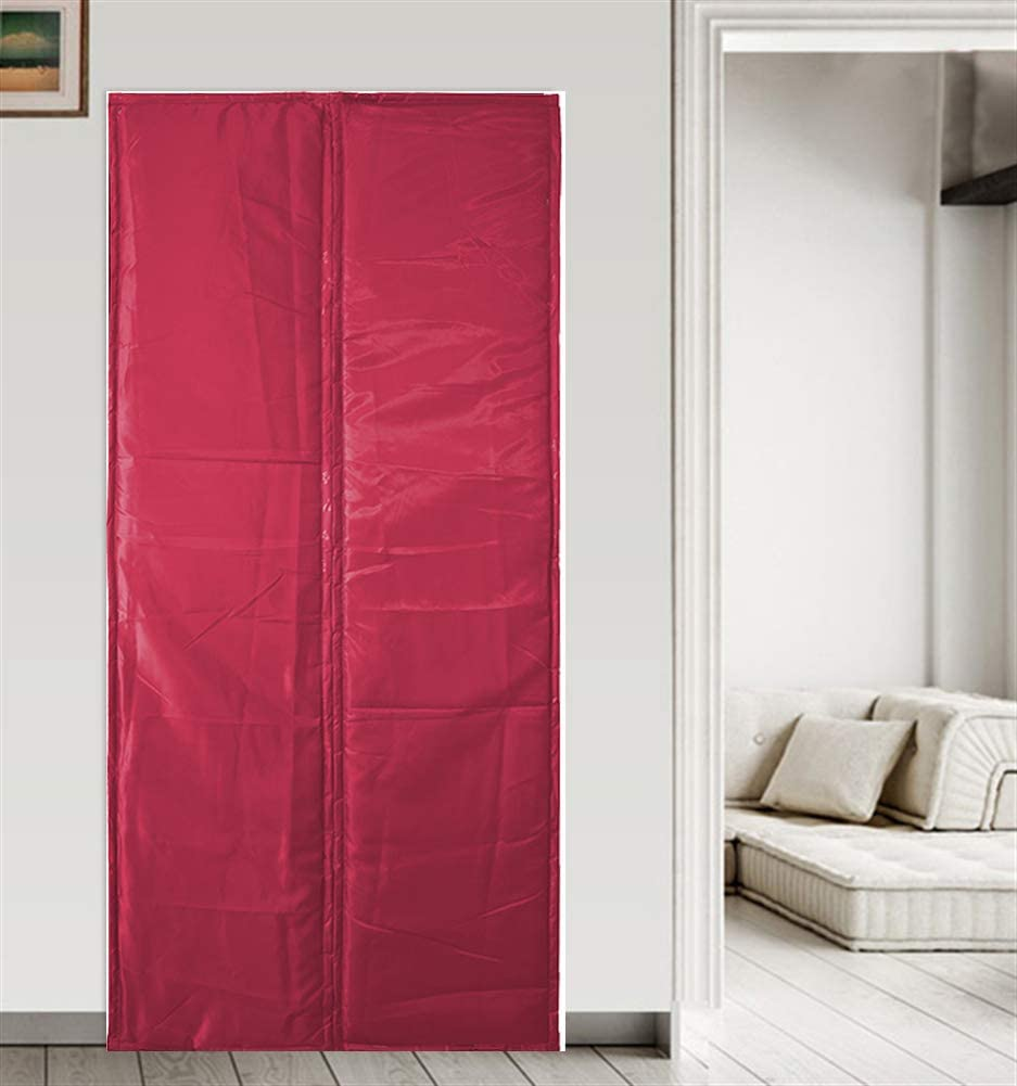 Liveinu Magnetic Thermal Insulated Door Curtain Storm Wind Fleece Insulation Curtian Magnetic Screen Door with Thermal and Insulated Waterproof Anti Energy Loss Reduce Noise 43x86 Inch Coffee