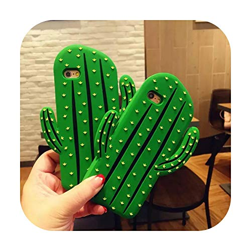 Phonecase 3D Cute Cartoon Cactus Soft Silicone Cell Phone Back Case Protect Cover For Iphone 5 5S Se 5C 6 6S Plus 7 8Plus X Xs Xr Xs Max-For Iphone Xs-