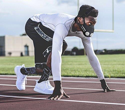 Phorb Training Mask schwarz Größe m Atemmaske für Crossfit Trainingsmaske steigert Ausdauer Fitness Kondition ähnelt Höhentraining - 7