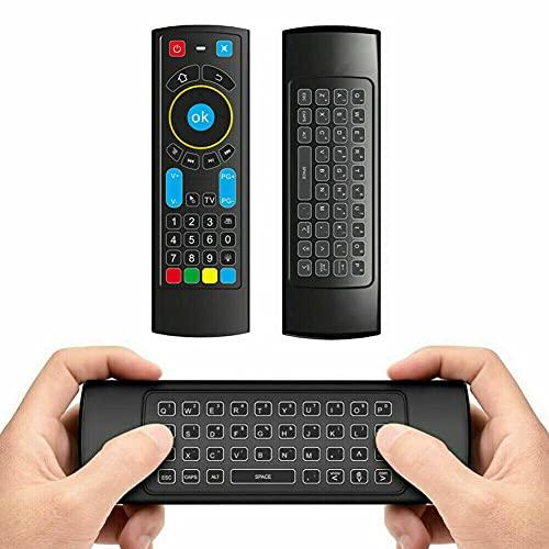 Bluetooth-Fernbedienung, kompatibel mit Amazon Fire Stick und Fire TV Air Mouse Fernbedienung, Mini-Tastatur und IR Lernen, funktioniert mit Android TV Box, Windows Raspberry Pi