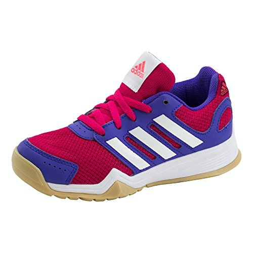 Adidas Kinder Trainingsschuhe Interplay K, Gr.-36 2/3 EU ,Rosa/Weiß/Lila