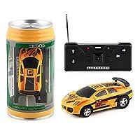 20Km / hコークス缶ミニRCカーラジオリモートコントロールマイクロレーシングカー4周波数おもちゃキッズギフトRCモデル