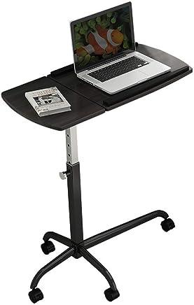 BJAB Mesa Ordenador Móvil Escritorio Portátil Computadora Escritorio Ajustable Altura Y Ángulo Con Ruedas, 82x57cm