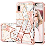 Fingic Samsung A10 Case, Galaxy A10 Case, Rose Gold Glitter