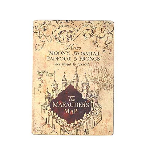 Petite Plaque Métallique Harry Potter Carte du Maraudeur