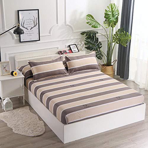 XGguo Protector de colchón Acolchado - Microfibra - Funda para colchon estira hasta Sábana Antideslizante Paquete Completo-9_180 * 200cm