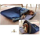 SPTHY Hundeschlafsack Katzenschlafsack, Winterwarmes Haustierschlafsackhaus, Geeignet Für Kleine, Mittlere Und Große Katzen Und Hunde, Praktische Aufbewahrung,XL