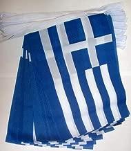 FAHNENKETTE GRIECHENLAND 6 meter mit 20 flaggen 21x14cm GRIECHISCHE Girlande F