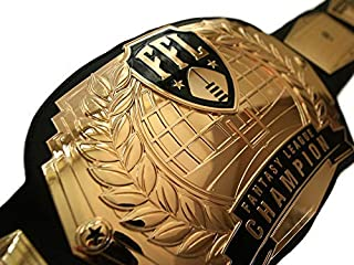 TrophySmack Fantasy Football Championship Belt - Customizable with up to 12 Years of Past Winners!