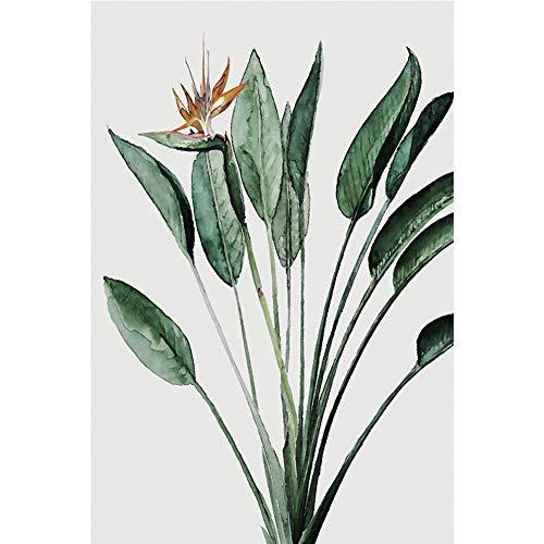 bdrsjdsb Grüne Pflanze Blatt Leinwand Malerei Sofa Hintergrund Wand Wohnzimmer Schlafzimmer Dekor Poster 2# 21x30cm