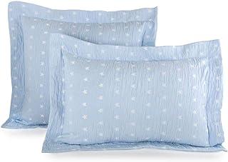 MI CASA Funda Cojin Estrella 35 x 50, Azul, 35 x 50 cm
