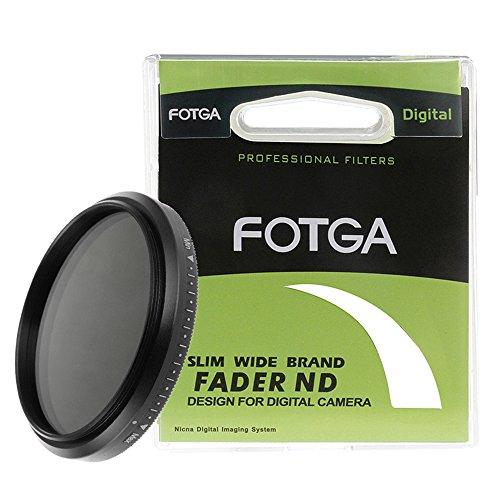 FOTGA Slim Fader Variable ND Filter Adjustable ND2 to ND400 49mm Neutral Density,Suitable for Canon EF 50mm f/1.8 STM Lens