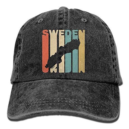 Unisex Baseball Cap Denim Hut Retro Style Schweden Silhouette Einstellbare Snapback Hiphop Cap wunderschöne 5835