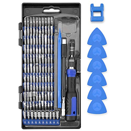 Precision Screwdriver Set, XOOL 120 in 1 with 111 Bits Screwdriver Set for Mobile Phone, Smartphone, Game Console, Tablet, PC, Blue…