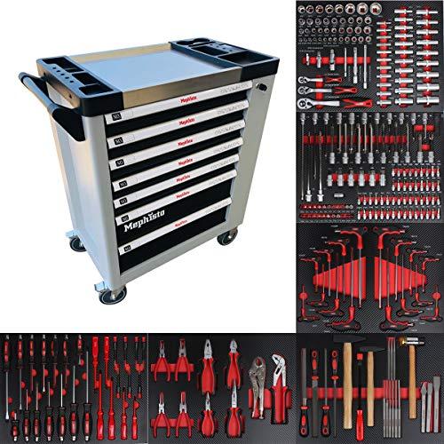 XXL Premium Werkzeugwagen mit 7 Schubladen, inkl. Werkzeug
