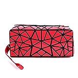 HappyU modische Kosmetiktasche klein für Damen mit Henkel | Make Up Organizer für Handtasche und Reisen | faltbare Kulturbeutel Geburtstagsgeschenk für Frauen