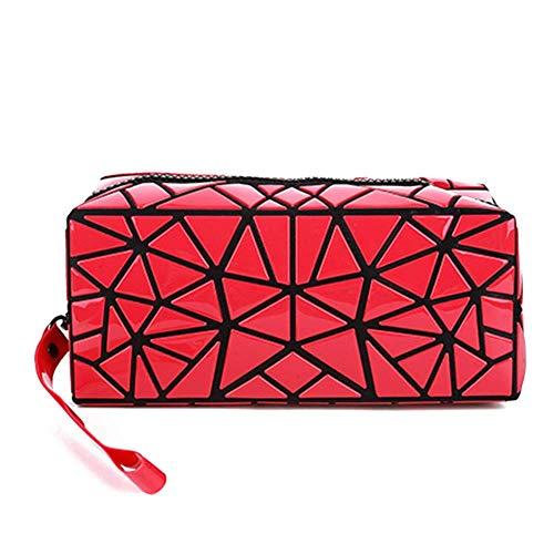 HappyU modische Kosmetiktasche klein für Handtasche mit Henkel | Reise Make Up Organizer für Damen | faltbare Kulturbeutel Geburtstagsgeschenk für Frauen