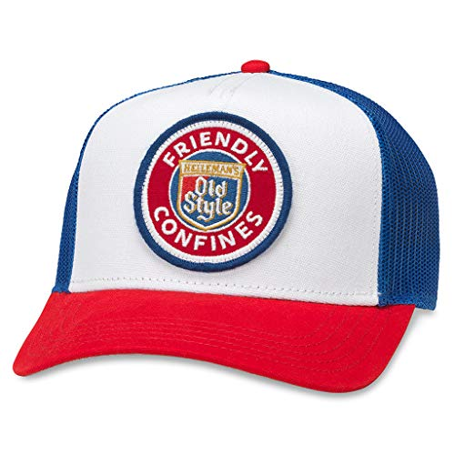 AMERICAN NEEDLE Valin Old Style Beer Friendly Confines Trucker Hat (PBC-1908C-RWRE) Royal/White/Red