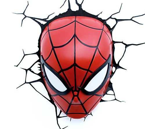 e-concept Distribution France - PDG00000061 - Marvel - 3D Deco Light - Masque Spider-Man - Rouge
