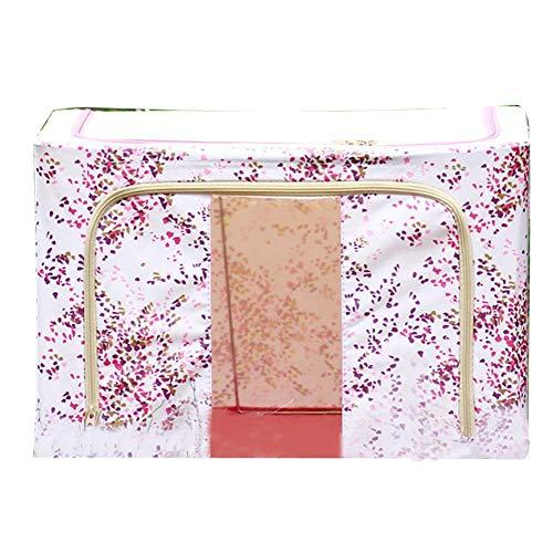 Monbedos Opvouwbare opbergdoos van Oxford-stof kast organizer opbergdoos voor kleding wasmand - roze bloemen