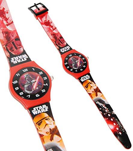 alles-meine.de GmbH Armbanduhr -  Star Wars - Darth Vader  - 3-D Effekt Motiv - Analog - passend für Kinder & Erwachsene - Kinderuhr / Lernuhr - Kunststoff Armband - für Jungen..