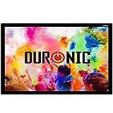 """Duronic APS40/ 169 Pantalla de Proyección 40"""" Fija para Proyector Fija Full HD y 3D 16:9 (89 cm X 50 cm) Instalación con Velcro Adhesivo..."""