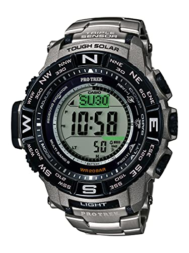 Reloj Casio Pro Trek Tough Solar para Hombres 56mm, pulsera de Titanio