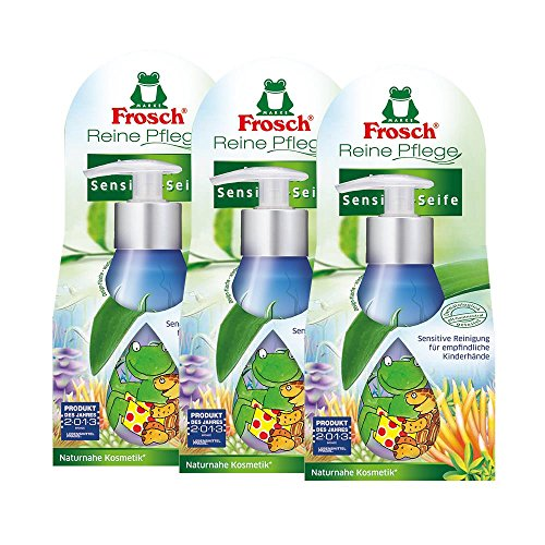 3x Frosch Reine Pflege Kinder Sensitiv-Seife 300 ml