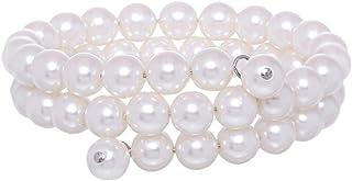 GrandUAE Women's Pearl Bracelet, White