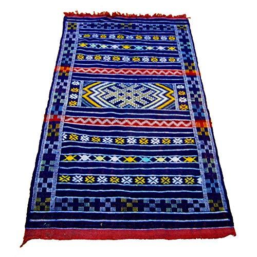 Etnico Arredo Alfombra Kilim Berbero Marruecos africano original Lana 1112191000