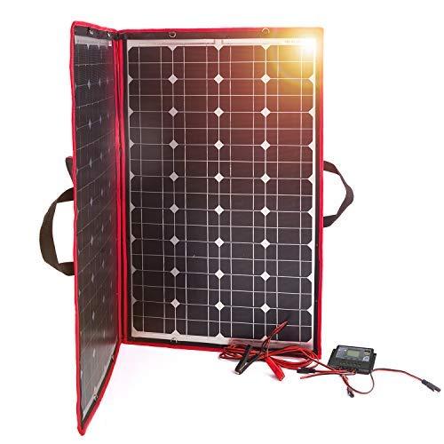 Dokio 100 Watt Solamodule Monokristalline Faltbar+Solar Controller (Lcd-Anzeige + Usb-Ausgang)