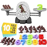 Nueplay Kids Dinosaur Toys for Age 3 4 5 6 7+ Year Old Boys Girls Gifts Balance Number STEM Educational Preschool Learning Counting Math Fun Games