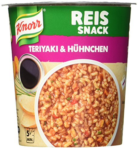Knorr Reis Snack Teriyaki & Hühnchen, 1 Portion, 8er Pack