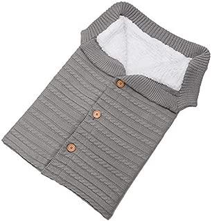 NuTip Baby Kids Toddler Knit Blanket Swaddle Sleeping Bag Sleep Sack Stroller Wrap Winter Warm Swaddle Wrap Sleeping Bag