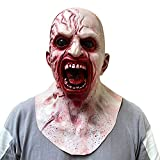 Bulex Zombie Mask Creepy Halloween Props Scary Realistic Face Mask for Adult Party Cosplay Costume Horror Decoration Props (Type-1)