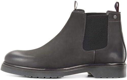 Jack e Jones chaussures bottes hommes in Pelle Pirate noir 12140924