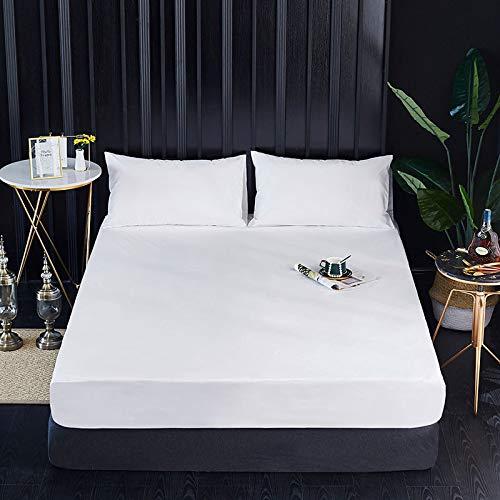 Xiaomizi Sábanas planas: sábanas de lujo son transpirables, lo que te mantiene fresco y cómodo. 152 x 203 + 46 (0,66 kg)
