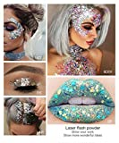 Pailletten Festival Gesicht Glitter Haar Nägel Make-up verschiedene Farben