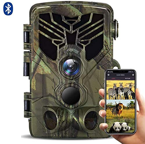 SUNTEKCAM WiFi Wildkamera 24MP 1080P Upgrade Bluetooth, WLAN mit Bewegungsmelder Nachtsicht Wildlife Jagdkamera, Wildtierkamera mit Nachtsichtbewegung Wasserdicht IP66 Outdoor-Kamera