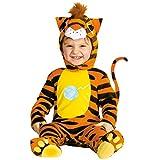 Amakando Tiger Babykostüm Baby Tigerkostüm Katzen Kostüm Raubkatze Strampler Katze Babystrampler Tierkostüm Jumpsuit