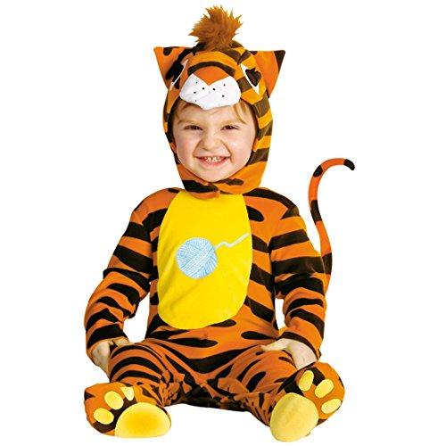 Amakando Déguisement Tigre pour bébé Costume Complet pour Petit Enfant Chaud félin Barboteuse Body Onesie Carnaval des Enfants fête